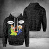 Math Lover Pythagoras And Einstein EZ12 3110 All Over Print Hoodie