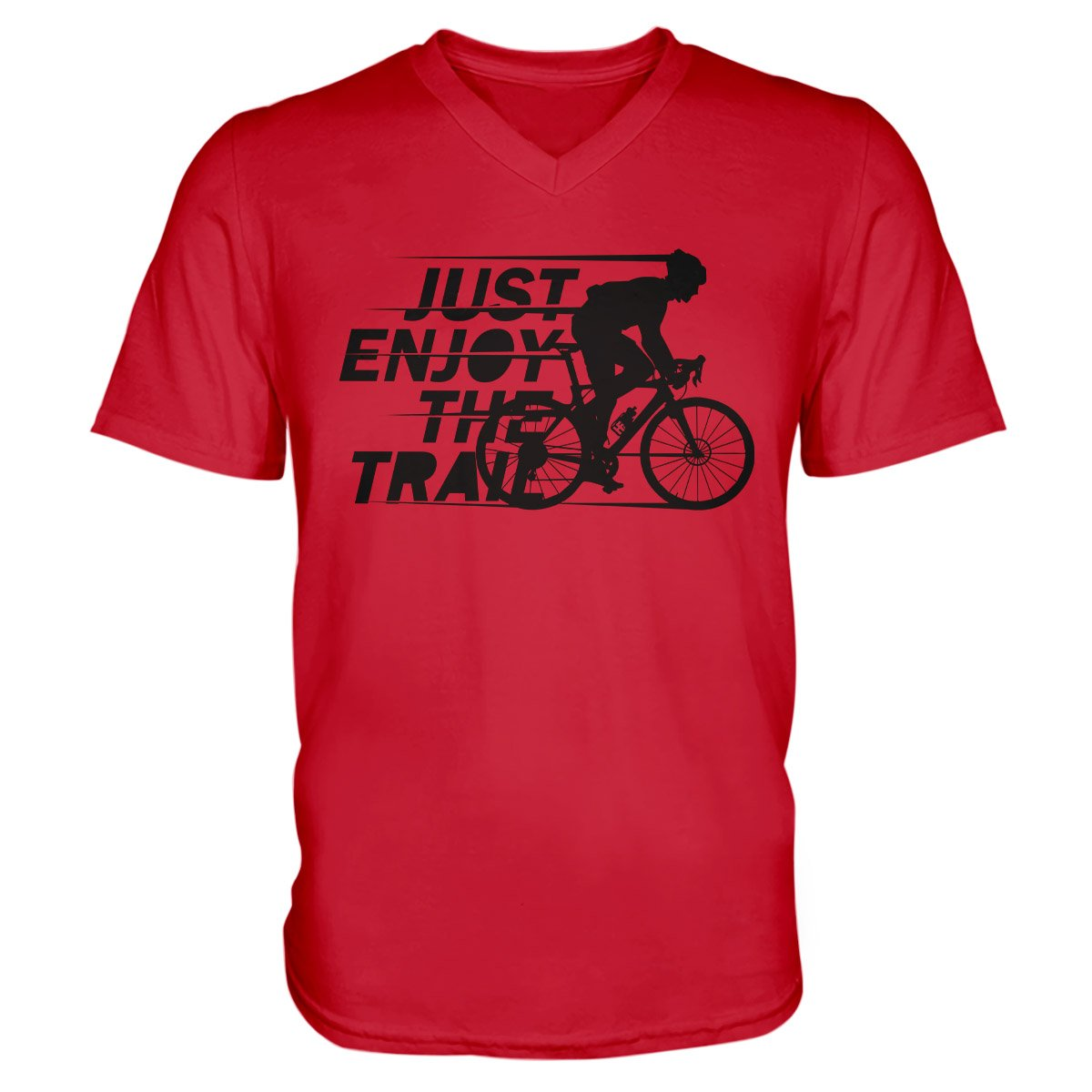 Just Enjoy The Trail MTB EZ22 1210 Men V-neck T-shirt