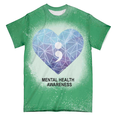 Mental Health Awareness Heart EZ01 3003 All Over T-shirt