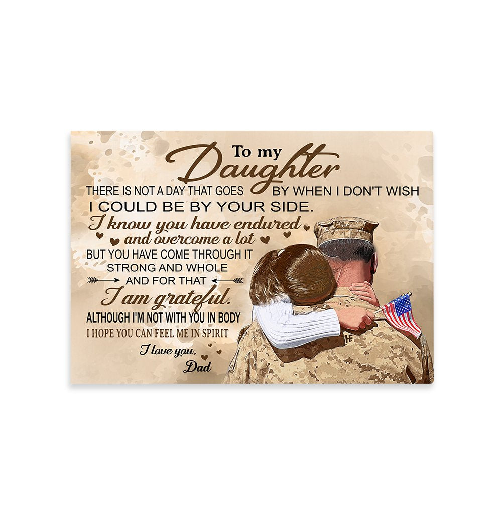 Military Man Hugging His Daughter V2 EZ22 2901 Canvas