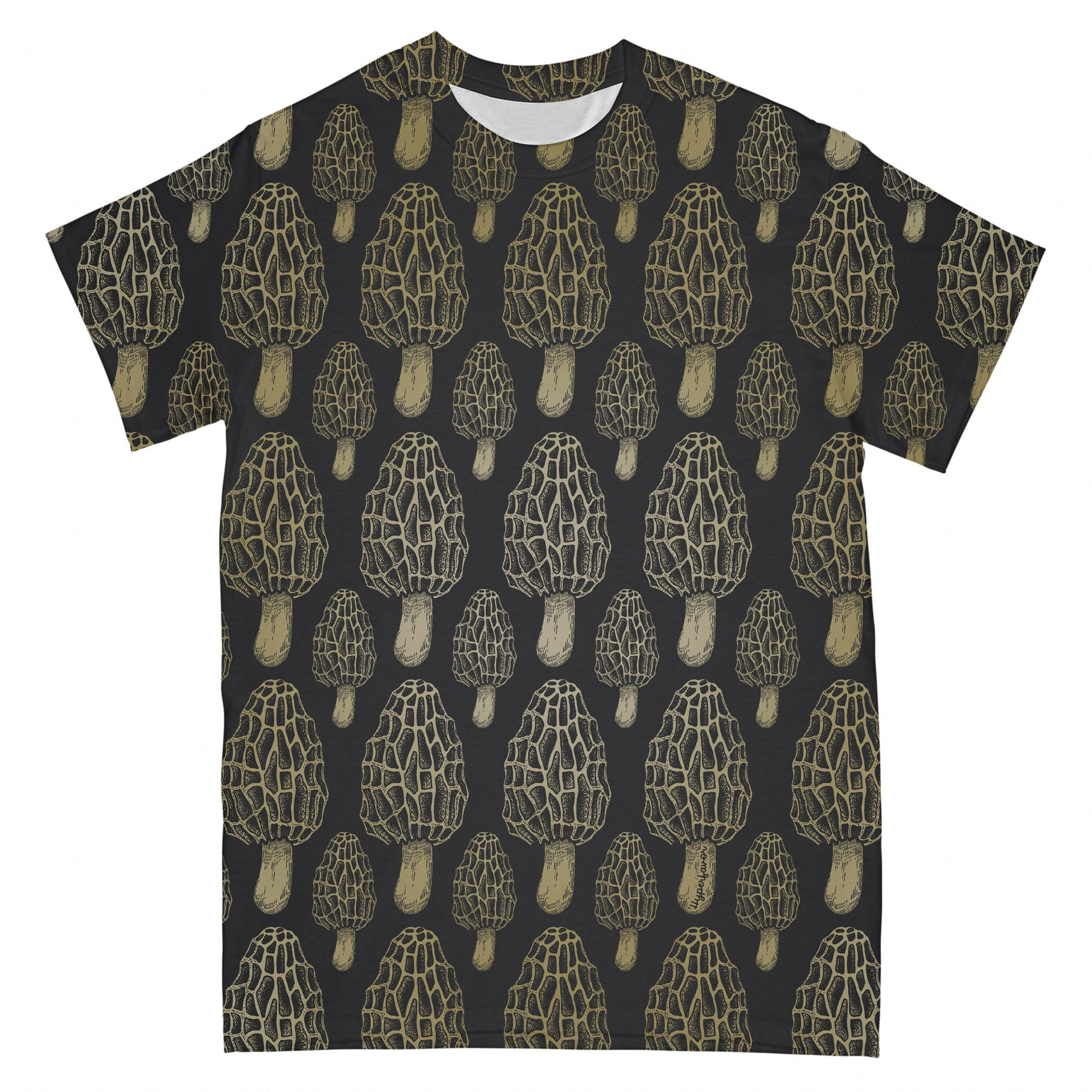 Morel Mushroom Gold EZ01 2403 I All Over T-shirt