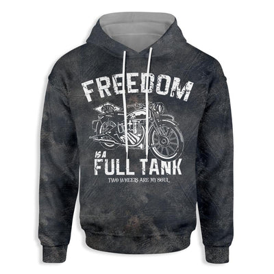 Motorcycle Freedom Is A Full Tank EZ14 1510 All Over Print Hoodie