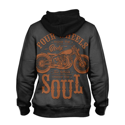 Motorcycle Rider's Leather Jacket EZ14 1310 All Over Print Hoodie