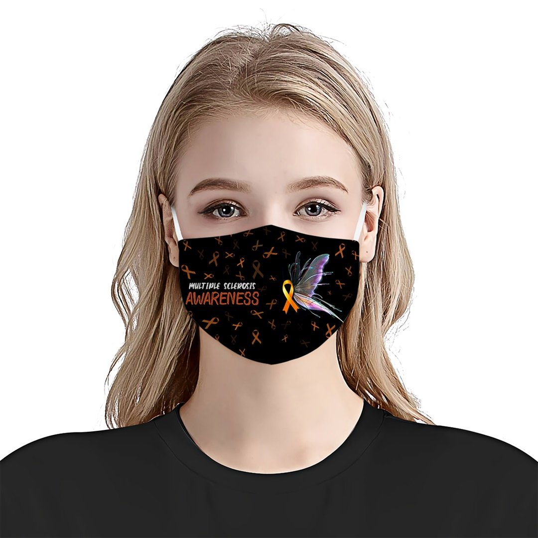 Multiple Sclerosis Awareness Butterfly EZ08 1804 Face Mask