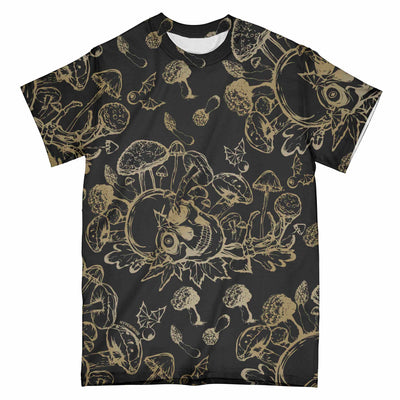 Mushroom Skull Stelekon EZ01 2503 All Over T-shirt