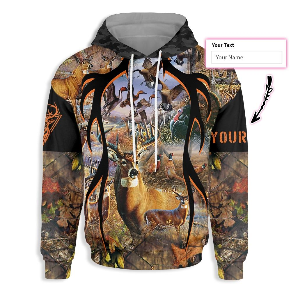 My Lucky Deer Hunting EZ26 1610 Custom All Over Print Hoodie