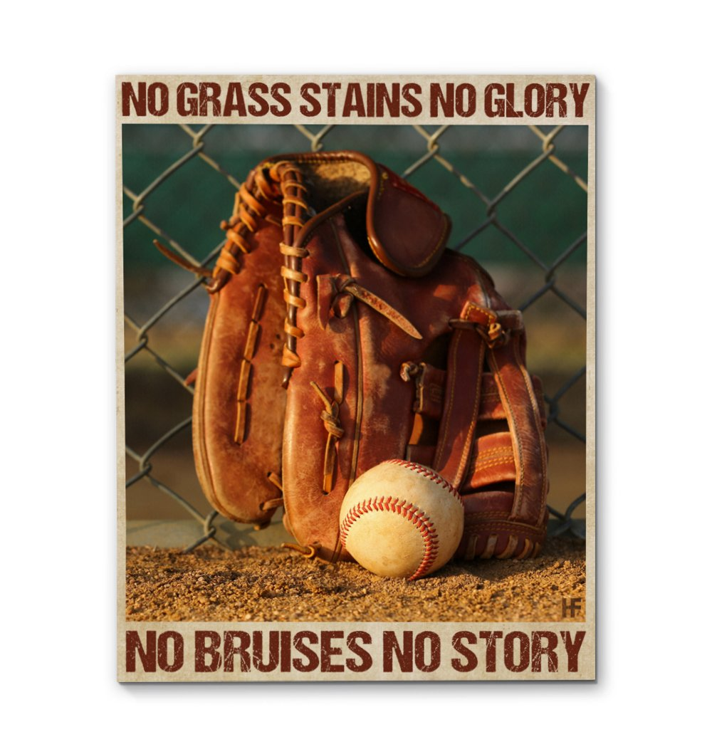 No Bruises No Story Baseball EZ22 1702 Canvas