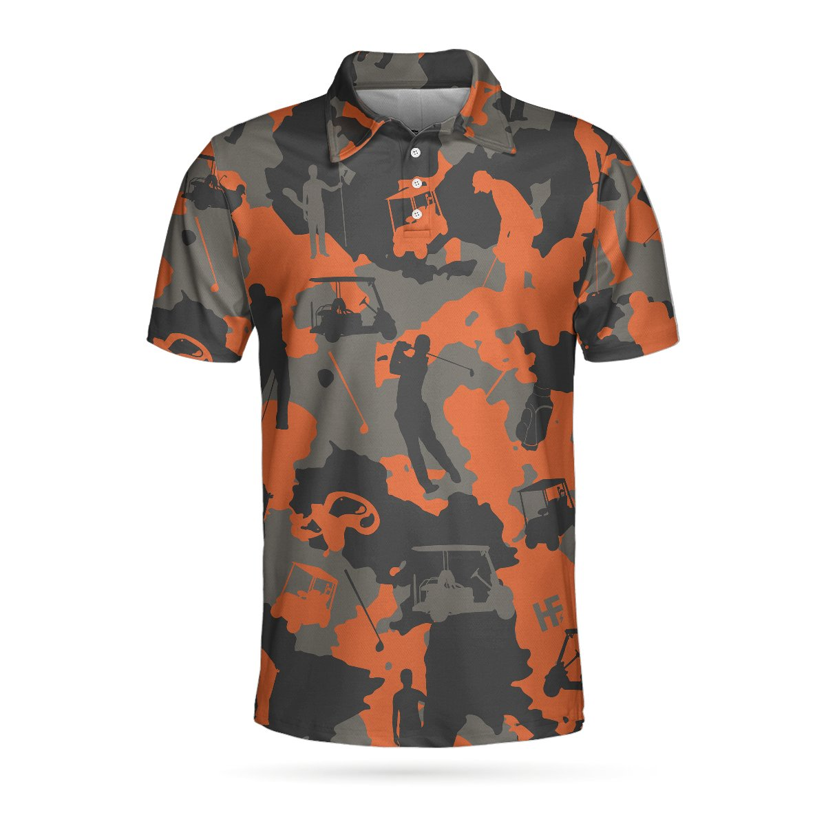 Orange Camouflage Golf EZ20 3103 Polo Shirt