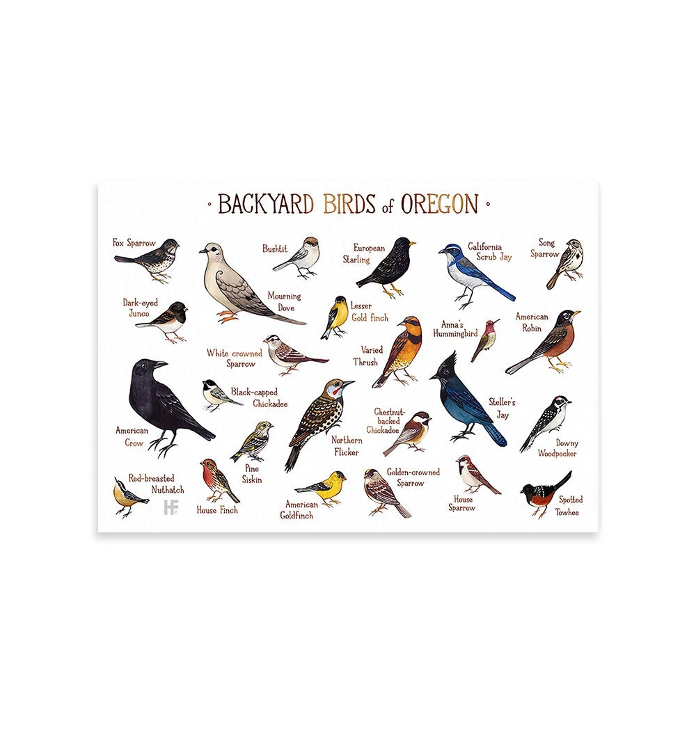 Oregon Backyard Birds EZ23 0701 Canvas
