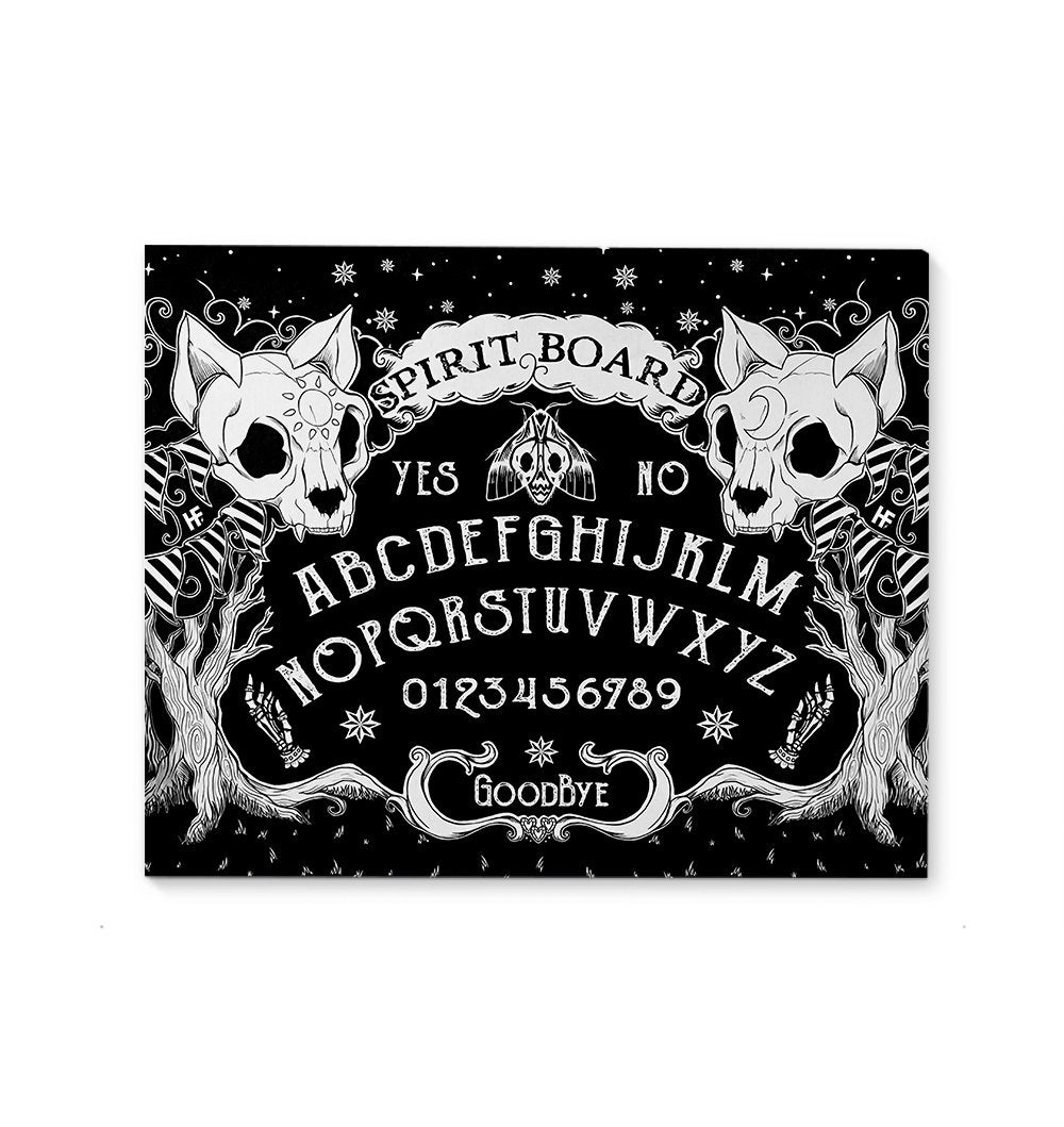 Ouija Board Cat Skull Witch Wicca EZ20 1710 Canvas