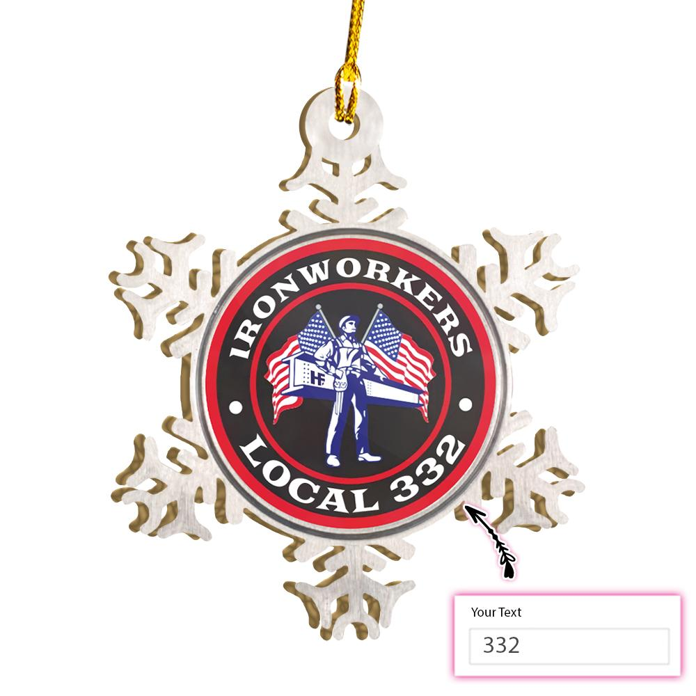 PERSONALIZED LOCAL IRONWORKER EZ15 2011 Custom Ornament