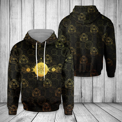 Pagan Pattern With Third Eye EZ19 0810 All Over Print Hoodie