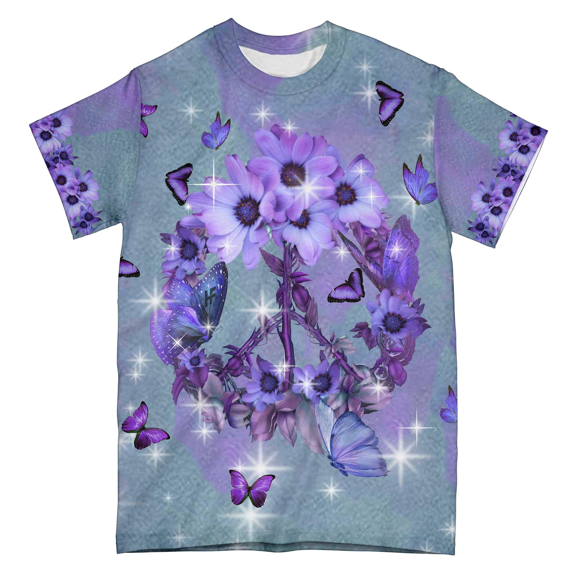 Peace Daisy Butterfly EZ10 1004 All Over T-Shirt