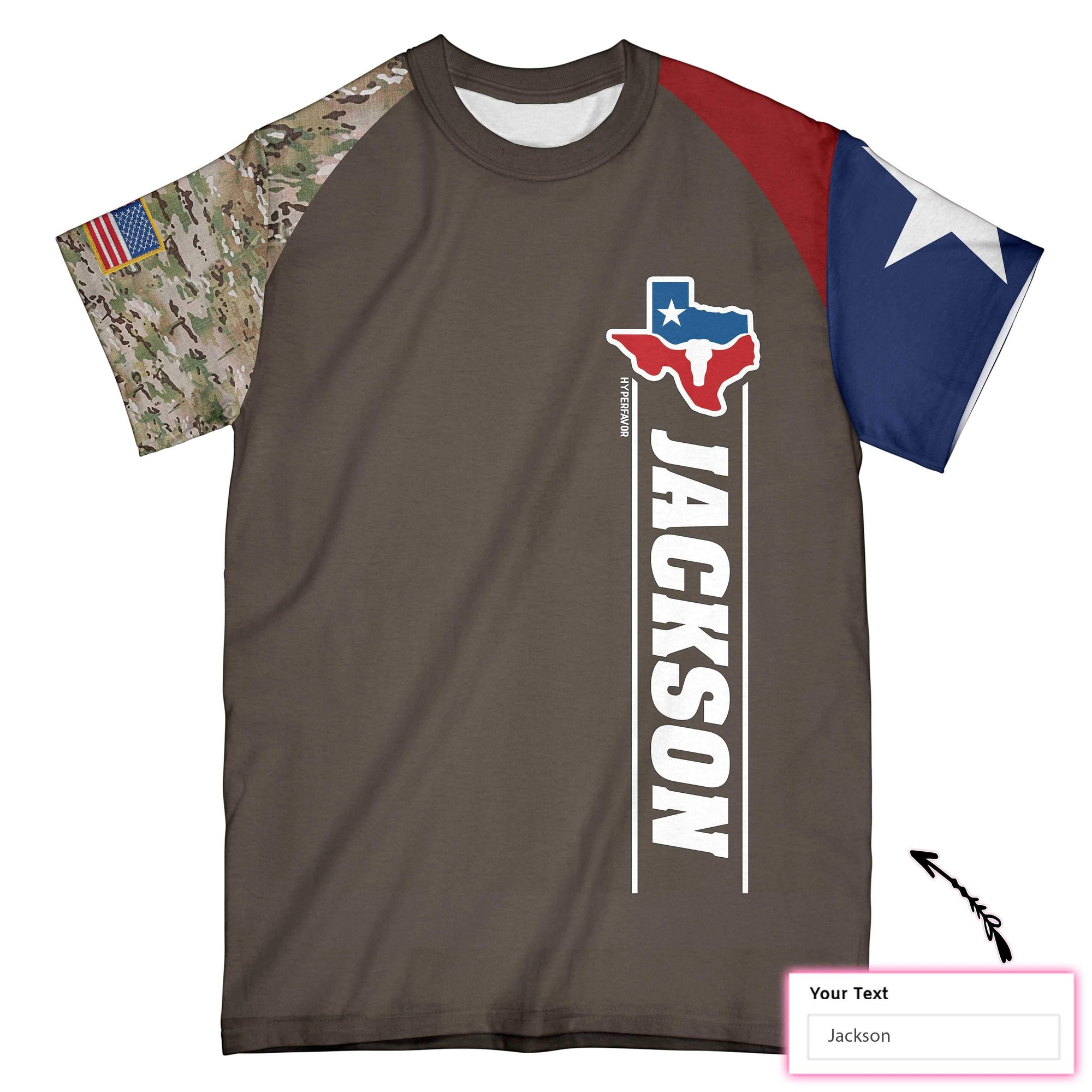 Personalized Dont Mess With Texas Camo Texas V2 EZ20 1301 Custom All Over Print T-Shirt