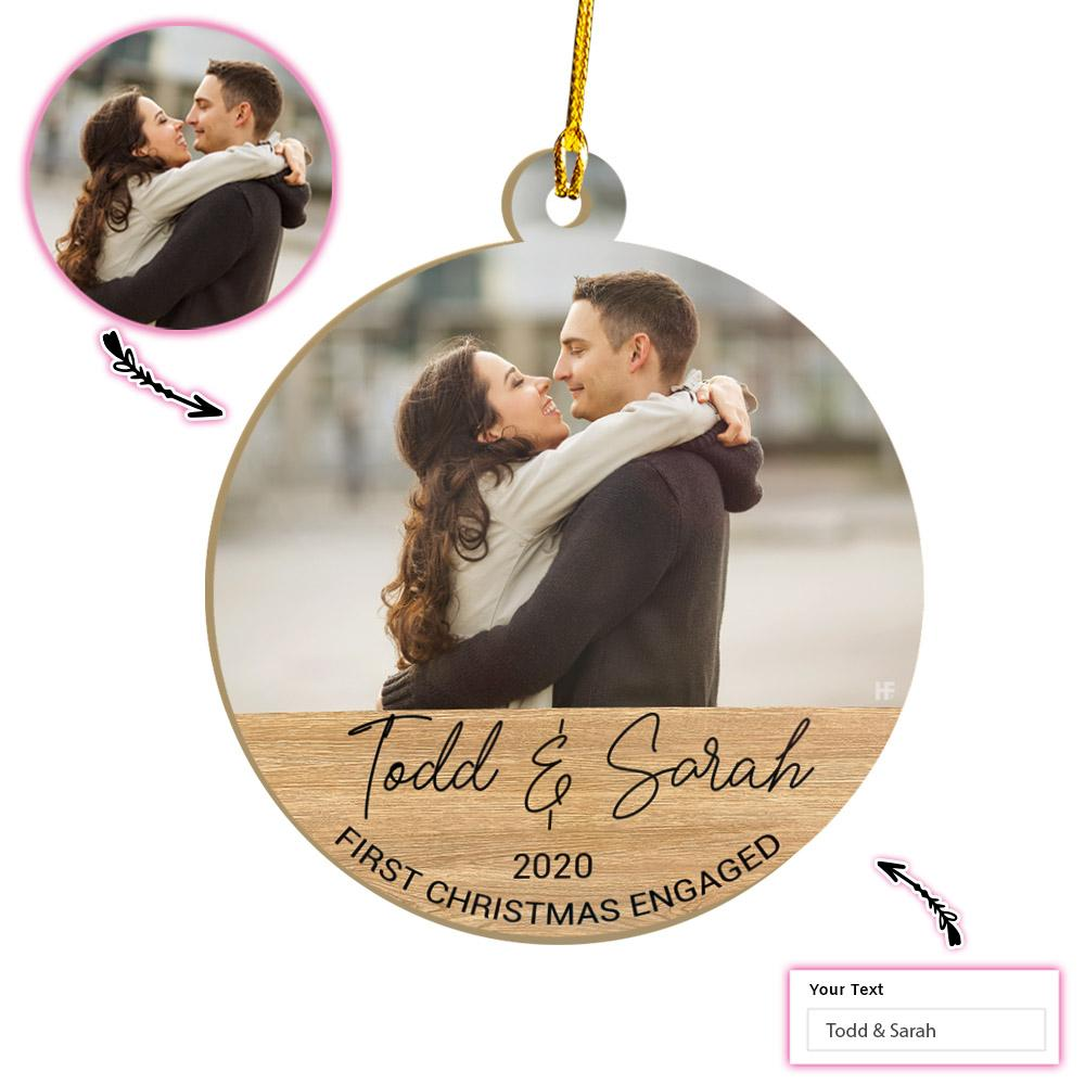 Personalized First Christmas Engaged EZ01 2011 Custom Ornament