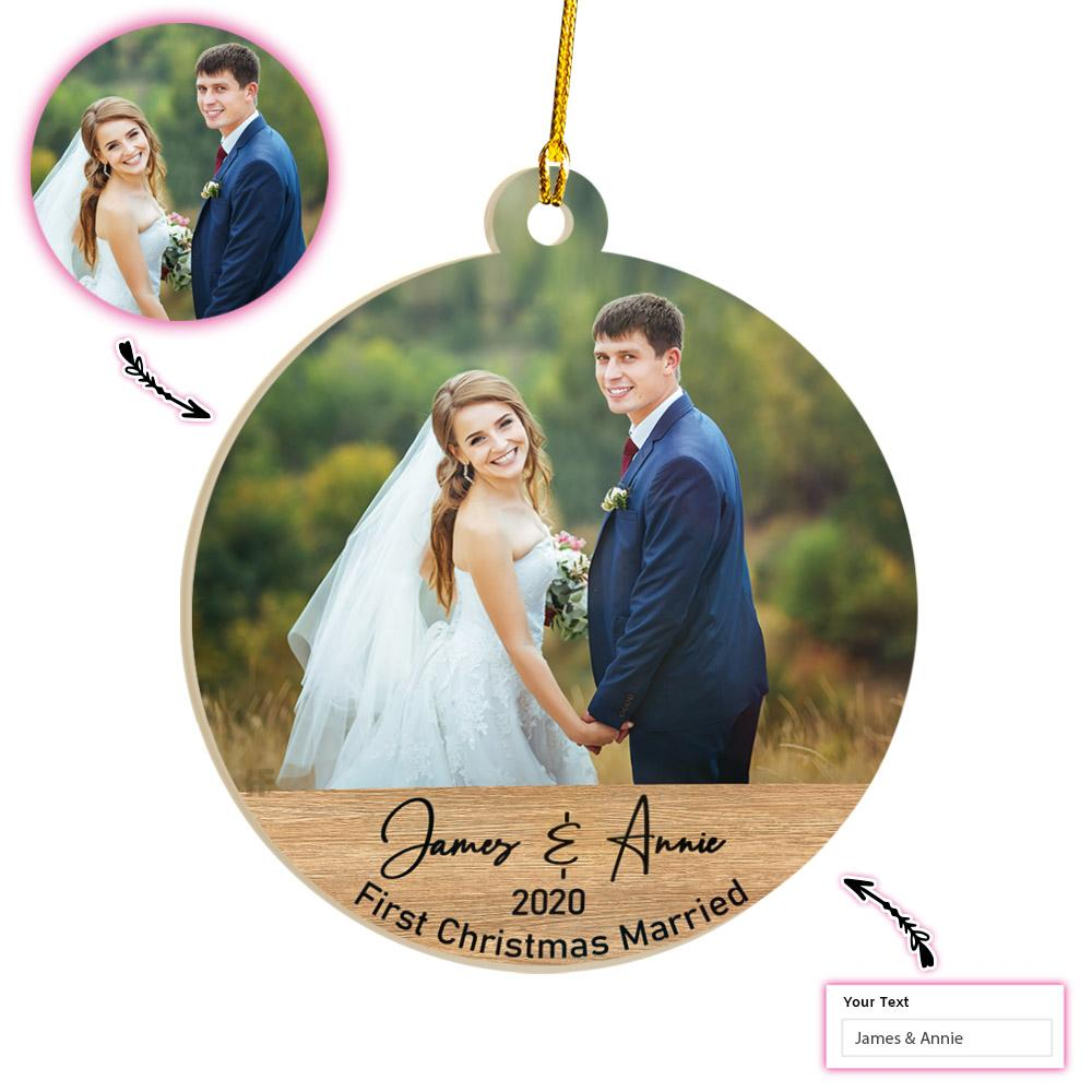 Personalized First Christmas Married EZ01 2011 Custom Ornament