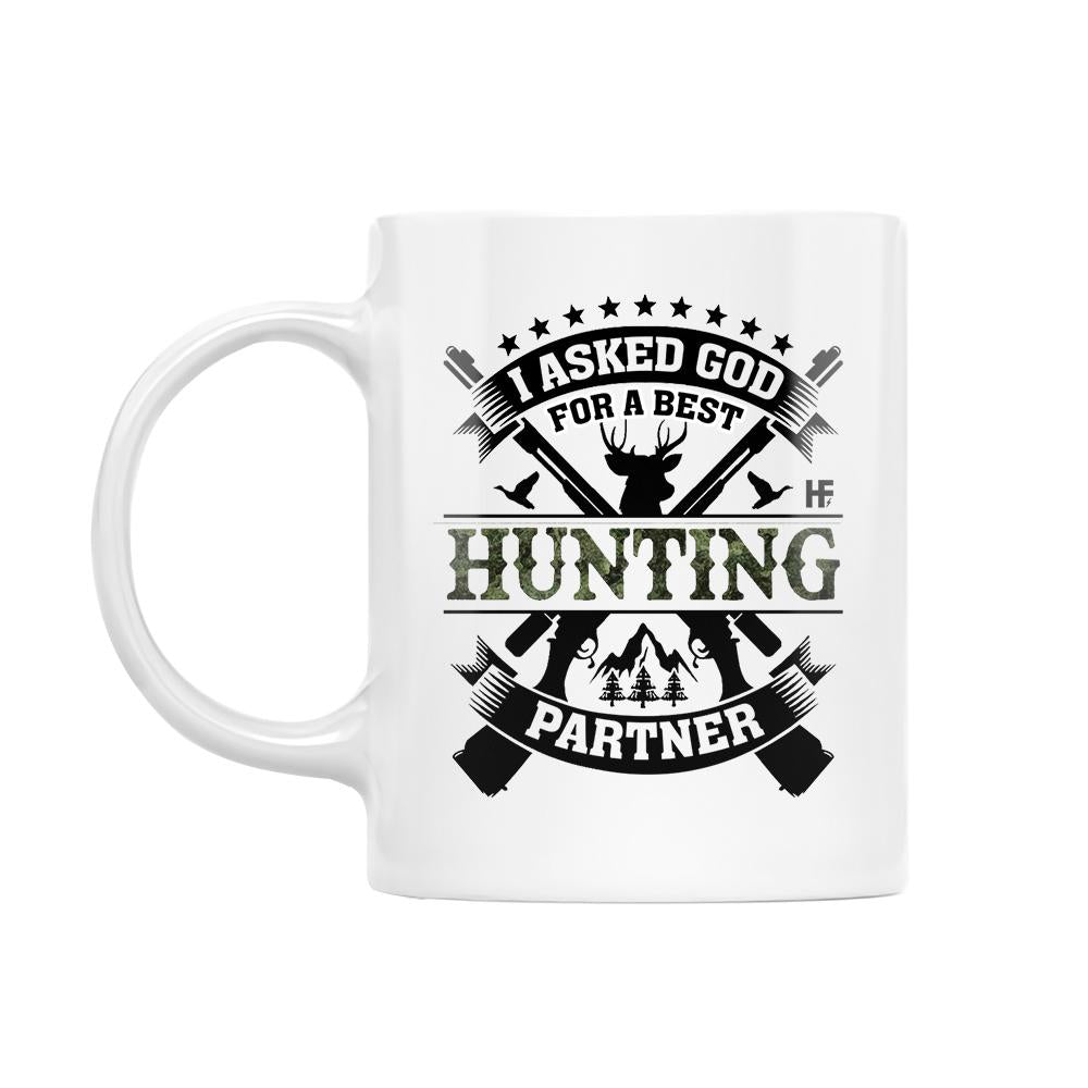 Personalized Name And Photo God Sent Me A Best Hunting Partner EZ26 1012 Custom Mug