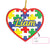 Personalized Name Christmas Gift Autism EZ22 1911 Custom Ornament