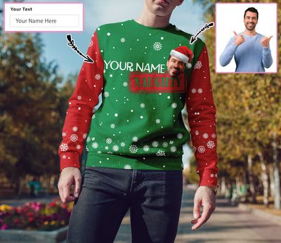 Personalized On Naughty List Christmas EZ20 1210 Custom All Over Print Sweatshirt