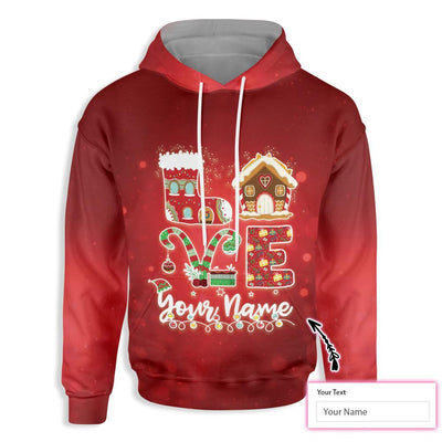 Personalized Xmas Teacher LOVE EZ14 0810 Custom All Over Print Hoodie