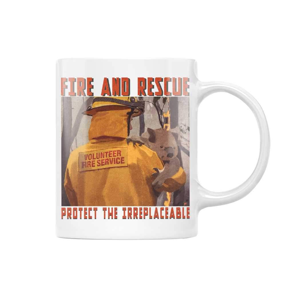 Protect The Irreplaceable Firefighter EZ24 1712 White Mug