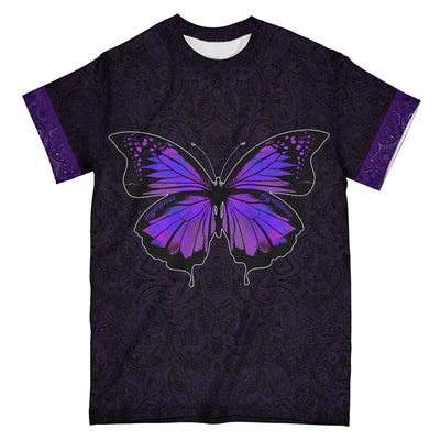 Purple Mandala Butterfly 2020 EZ08 0104 All Over T-shirt
