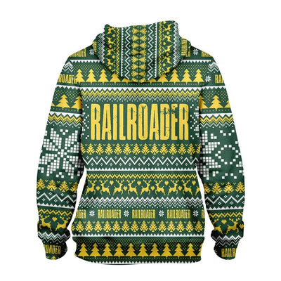 Railroader Happy Christmas EZ15 0510 All Over Print Hoodie