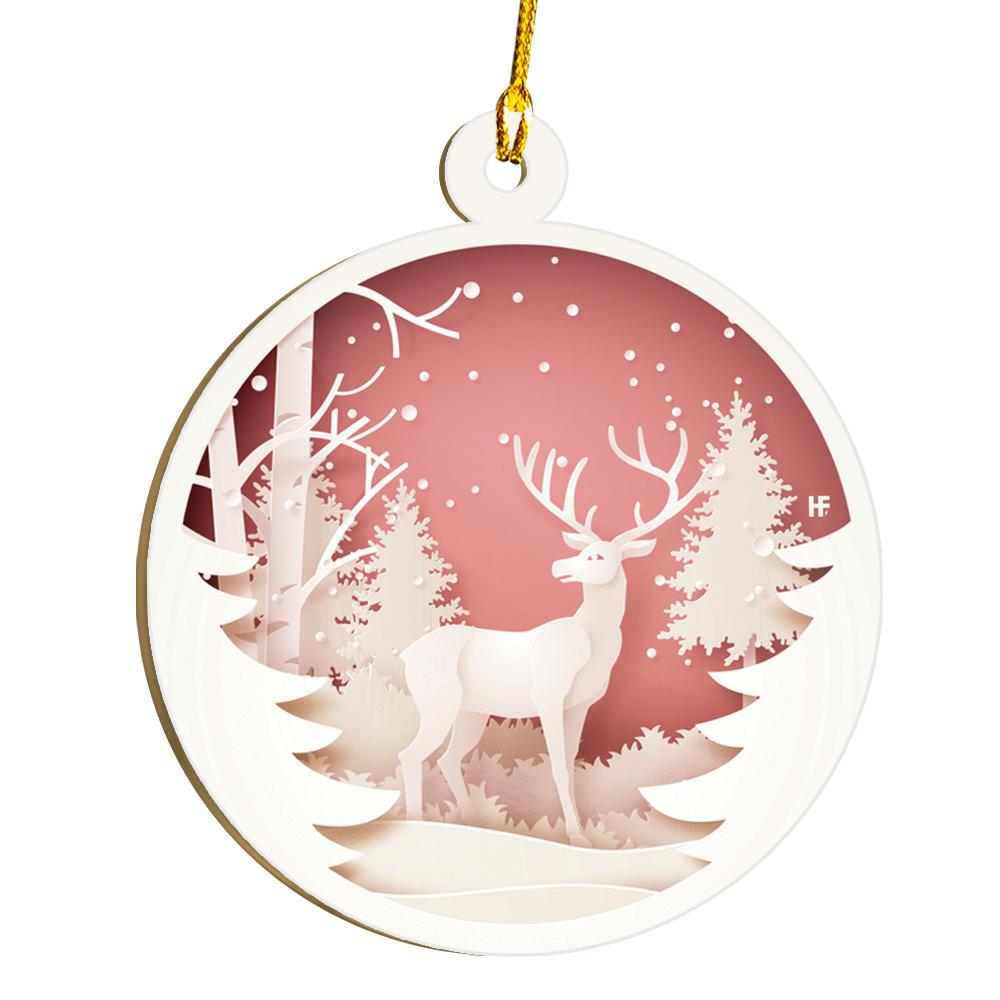 Raindeer In The Woods EZ21 1711 Ornament
