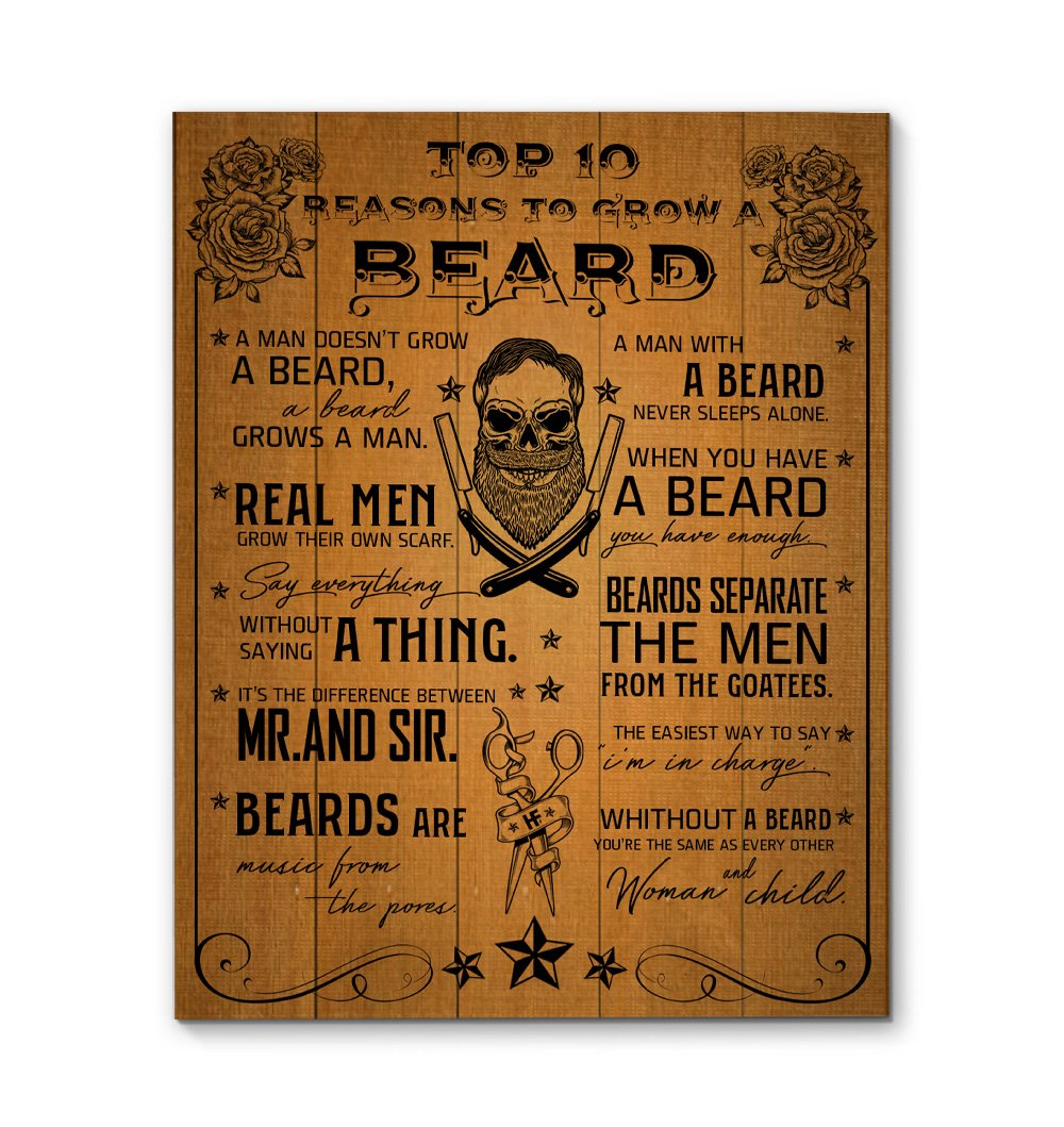 Reasons To Grow A Beard EZ16 2101 Canvas