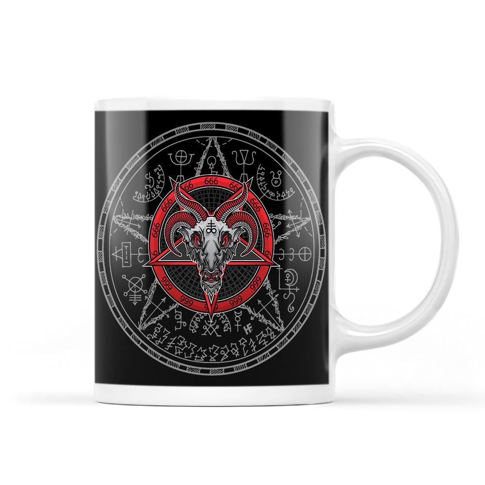 Satanism Magic Circle 666 EZ24 2212 White Mug
