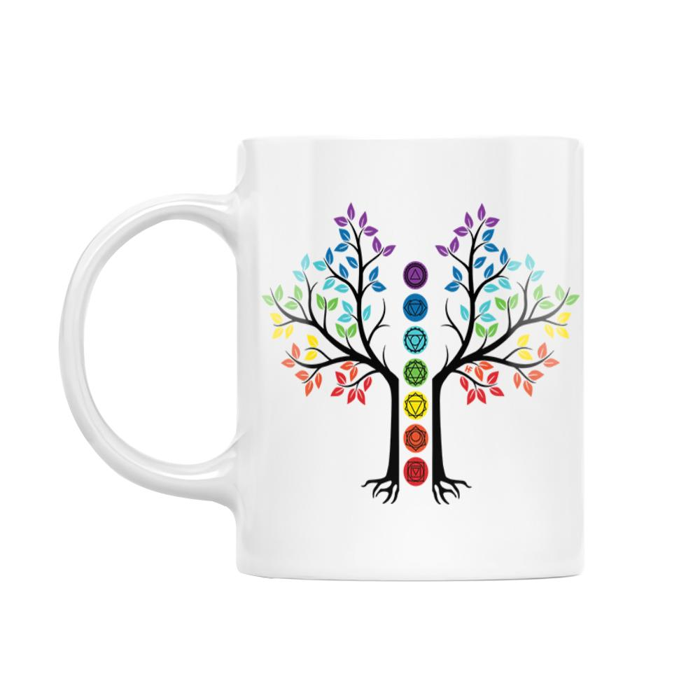 Seven Chakras Tree Of Life EZ22 1912 White Mug