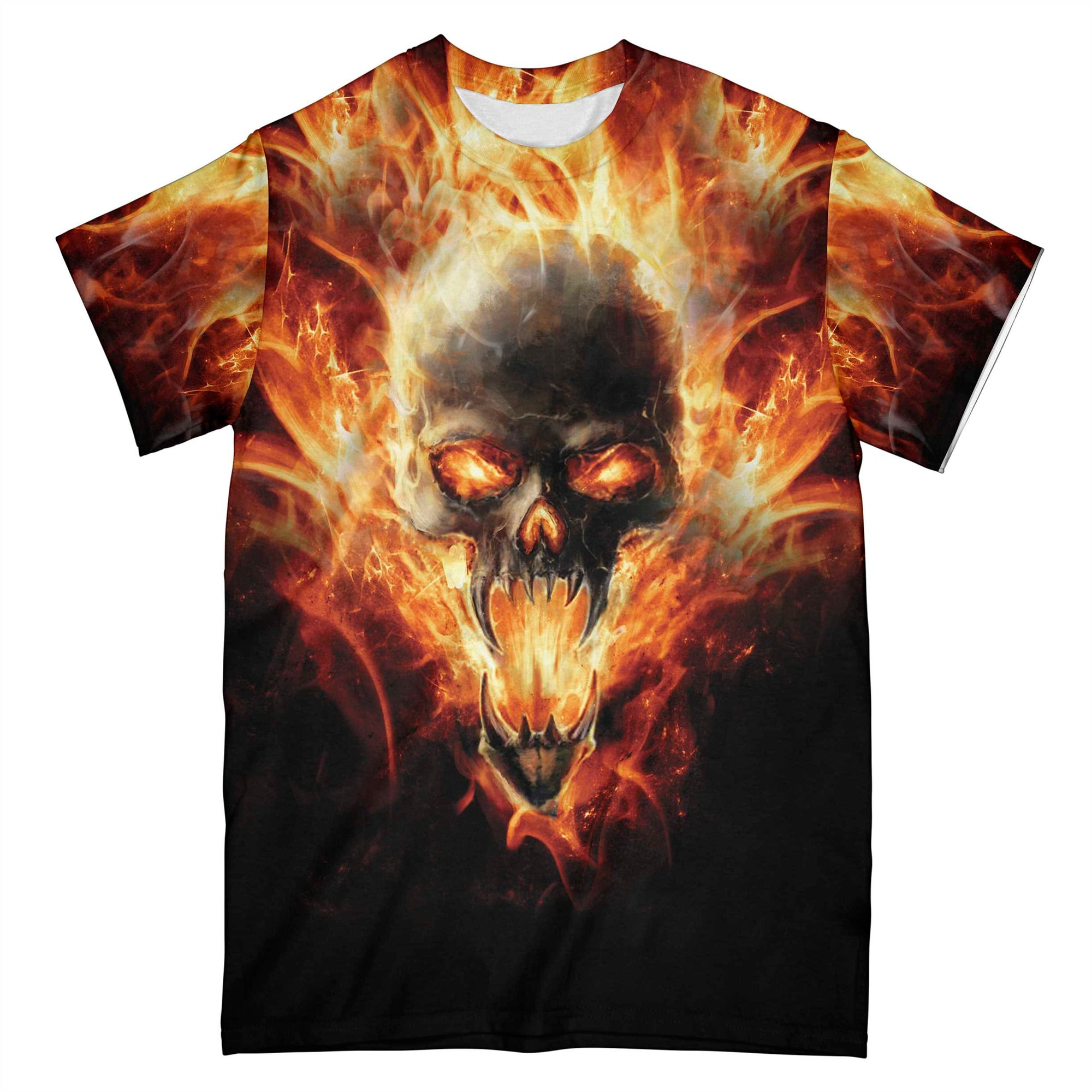 Skull Hell Fire Grumpy Old Man EZ05 0510 All Over T-Shirt