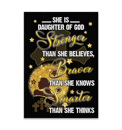 Stronger Braver Smarter Black Woman EZ15 2409 Canvas