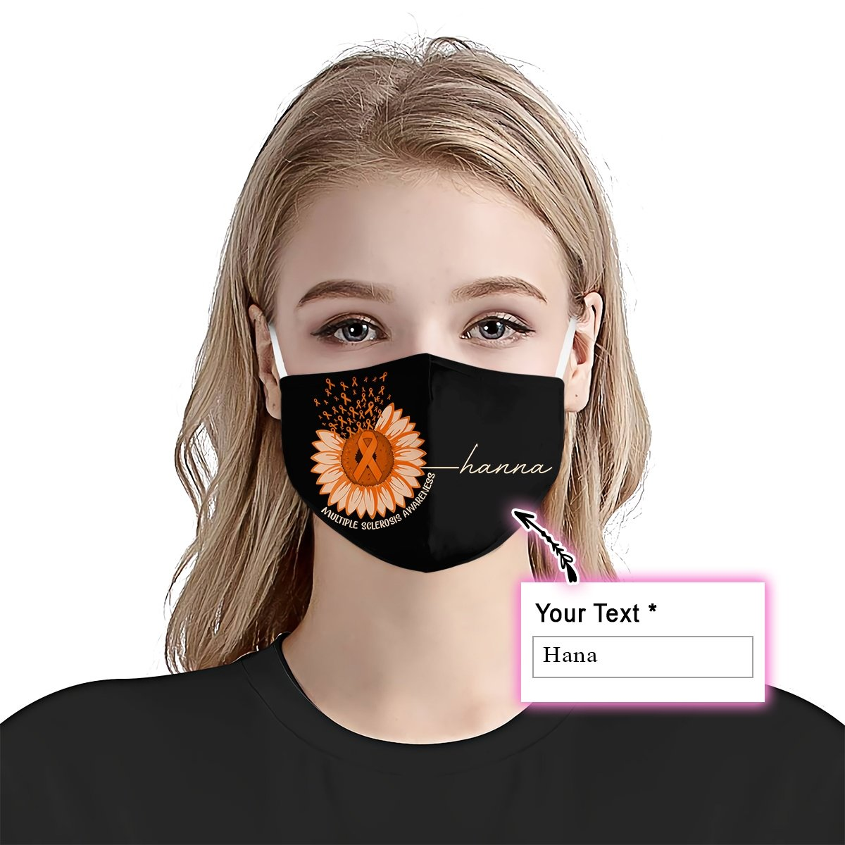 Premium Sunflower Multiple Sclerosis Awareness EZ09 2105 Custom Face Mask
