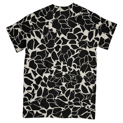 Super Mom Black Floral EZ02 1004 All Over T-shirt
