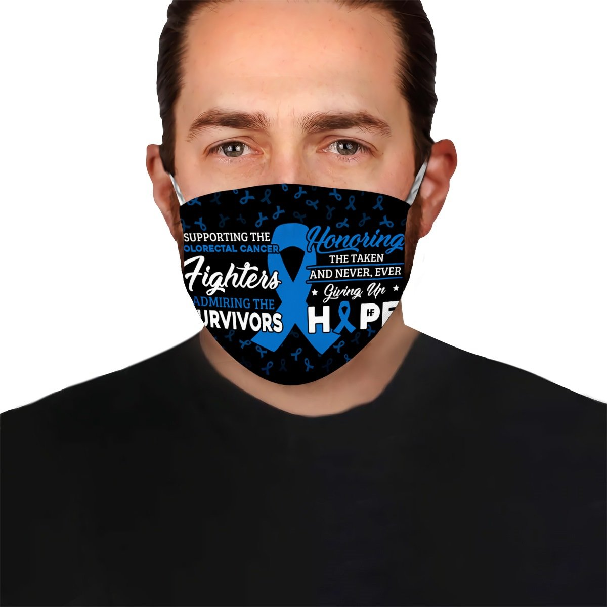 Supporting the Colorectal Cancer fighters EZ02 2504 Face Mask