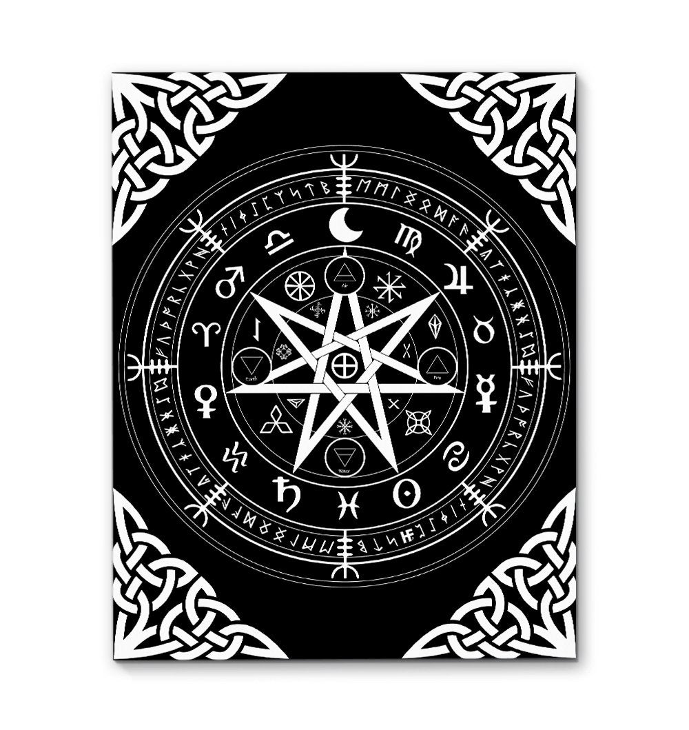 Symbol Of Protection Witch Wicca EZ20 1710 Canvas
