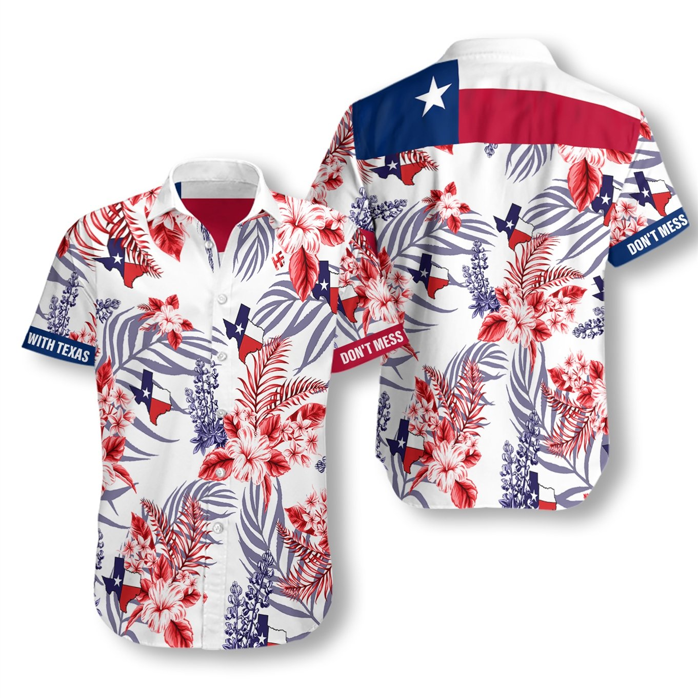 Texas Proud Bluebonnet EZ05 2707 Hawaiian Shirt