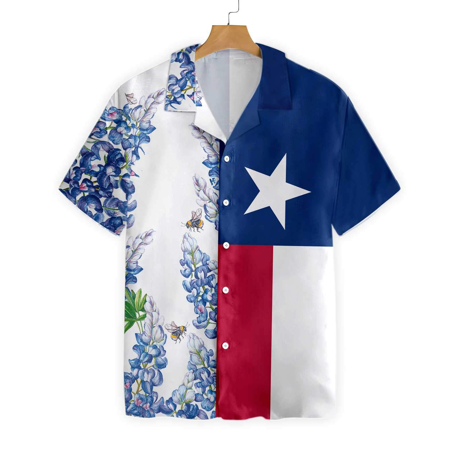 Texas Flag Bluebonnets V2 EZ16 0202 Hawaiian Shirt