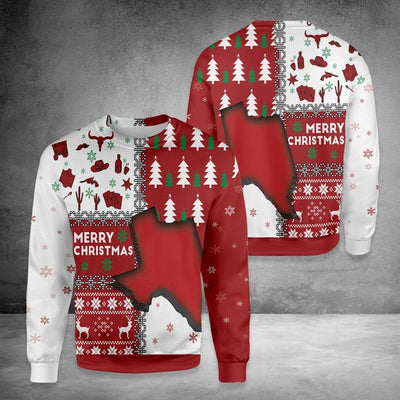 Texas Merry Christmas Sweatshirt EZ15 0910 All Over Print Sweatshirt