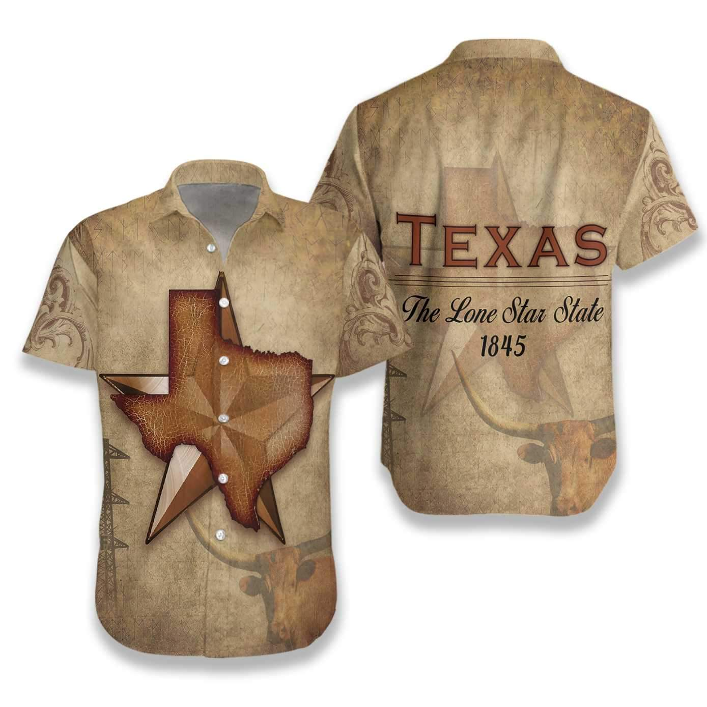 Texas The Lone Star State EZ15 3011 Hawaiian Shirt