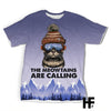 The Meowtains Are Calling EZ03 1103 All Over T-shirt