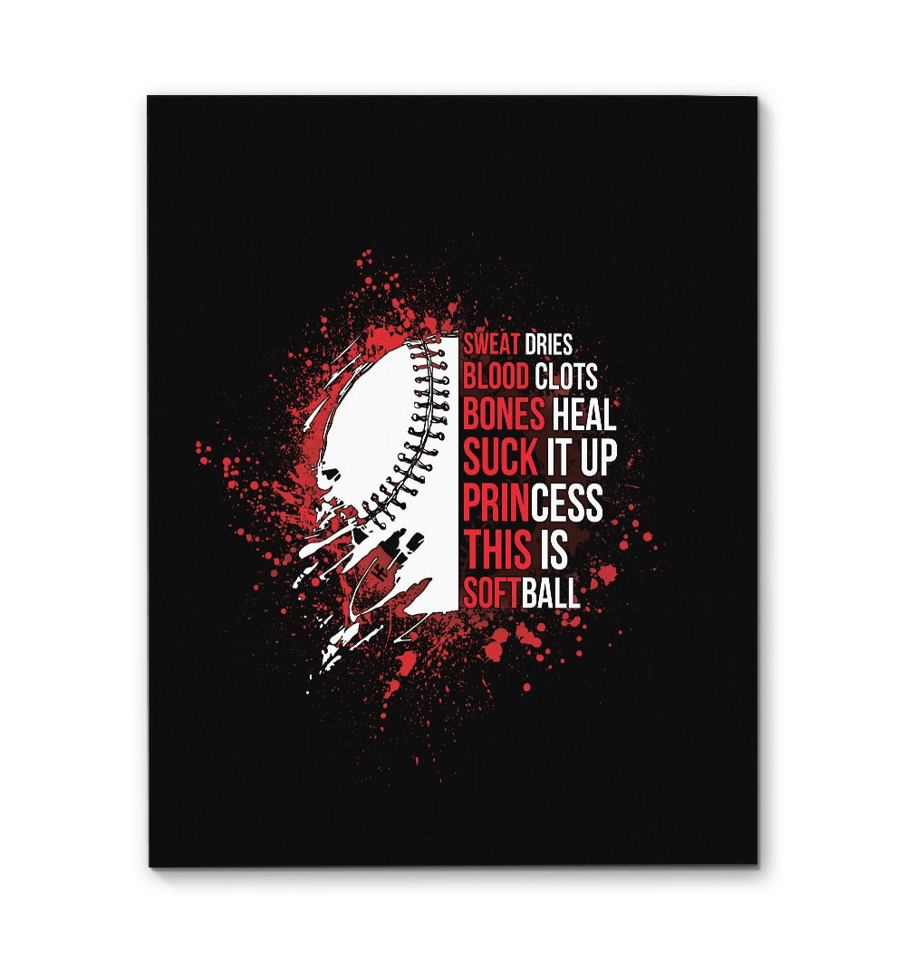 This Is Softball, Princess EZ21 2411 Canvas