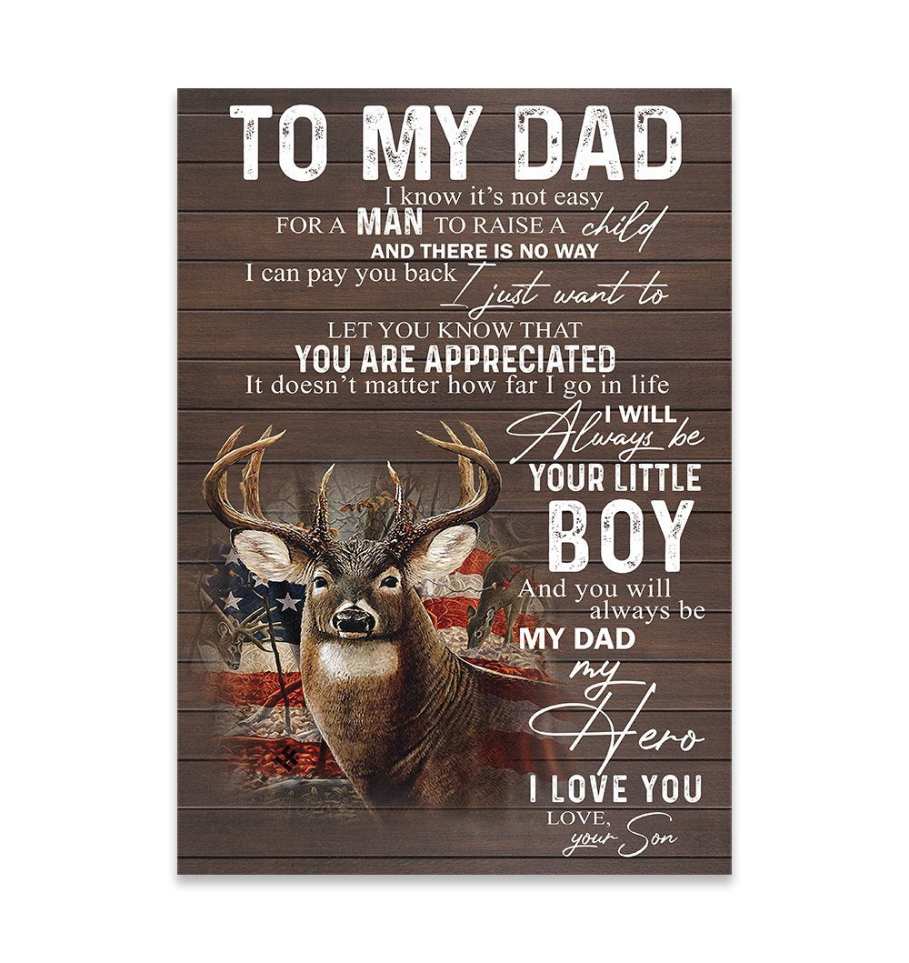 To My Dad EZ26 2609 Canvas