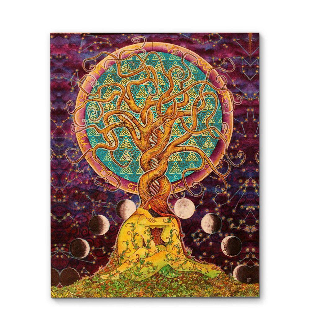 Tree Of Life With Moon Phase Celtic EZ19 3011 Canvas
