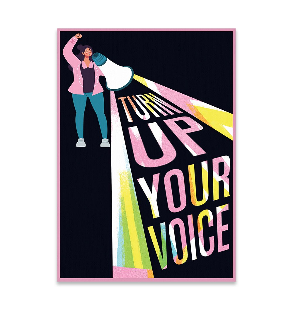 Turn Up Your Voice Feminism EZ22 2609 Canvas