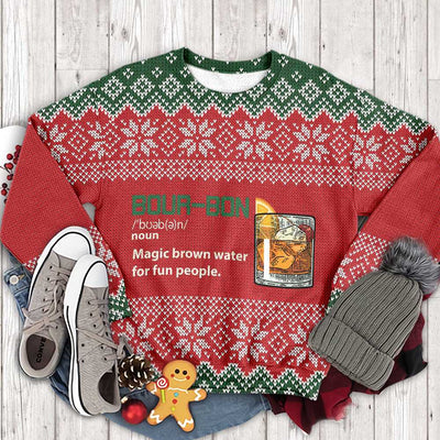 Ugly Christmas Bourbon Noun EZ12 2610 All Over Print Sweatshirt