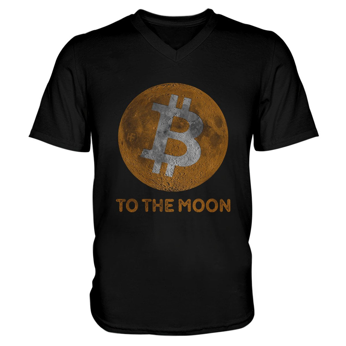 Bitcoin To The Moon Cryptocurrency EZ20 0902 Unisex V-neck T-shirt
