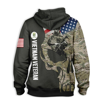 Vietnam Veteran EZ12 0810 All Over Print Hoodie