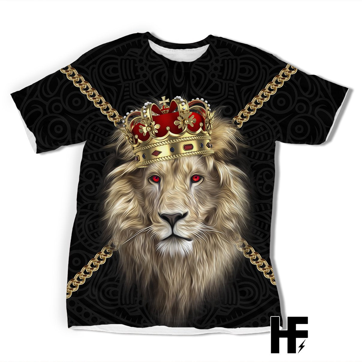 Viking Lion King And Queen EZ08 1103 All Over T-shirt
